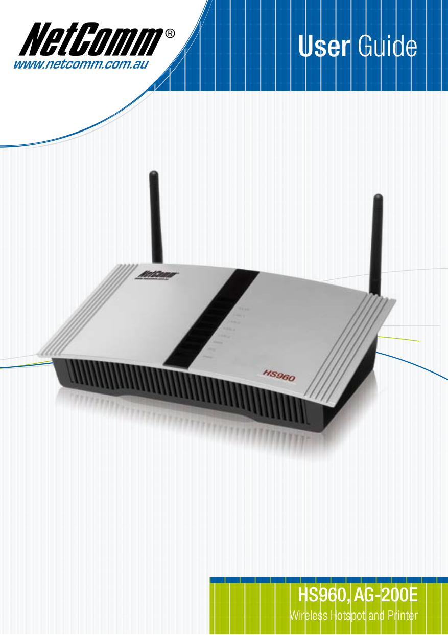 pdf for Netcomm Router HS960 manual