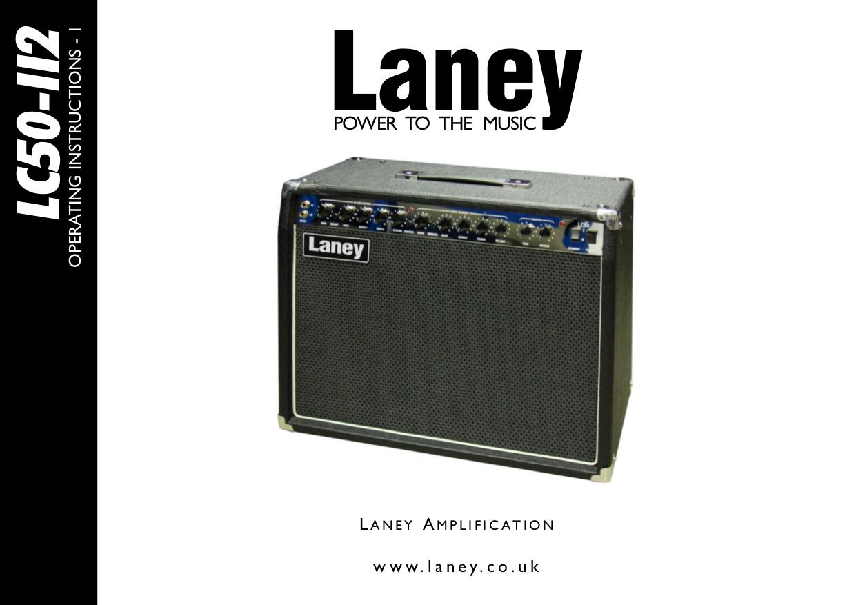 pdf for Laney Amp LC50-112 manual