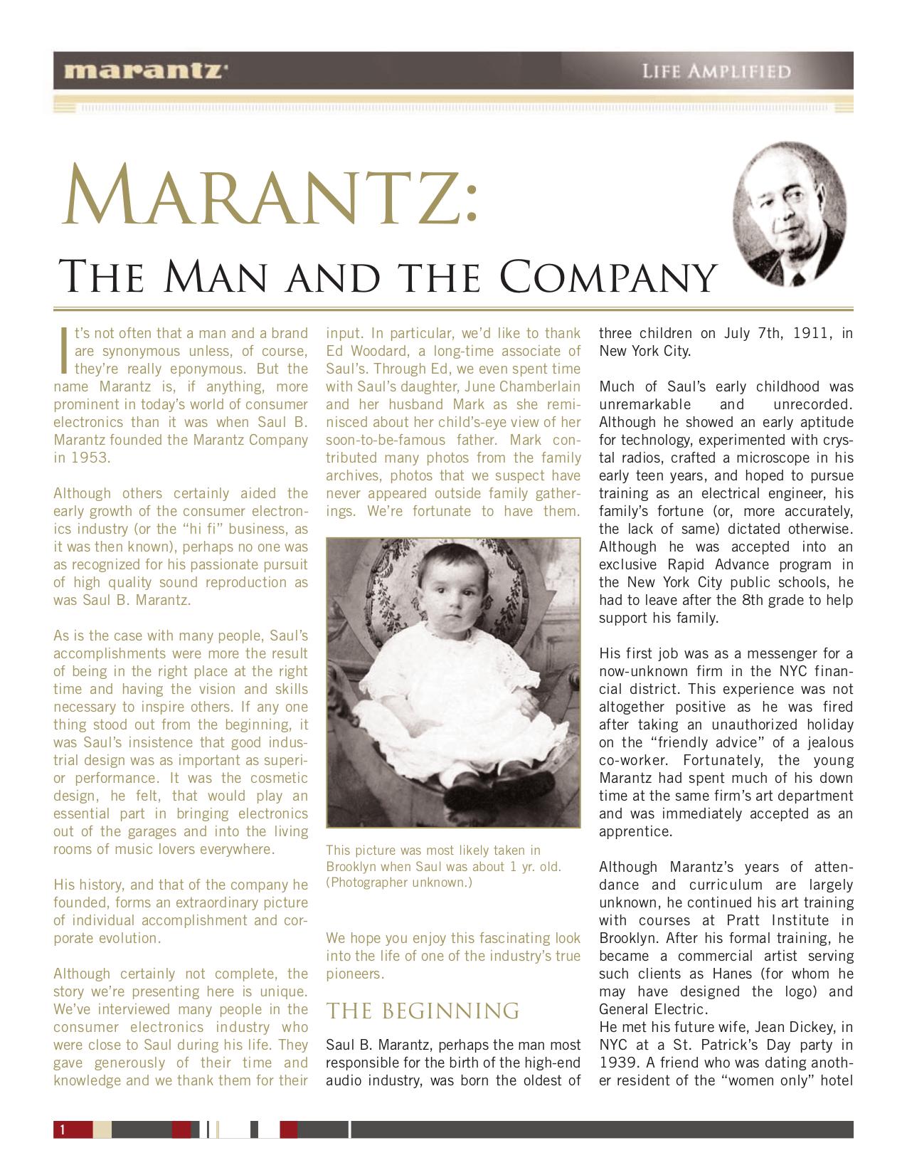 pdf for Marantz CD Player SA-11S1 manual
