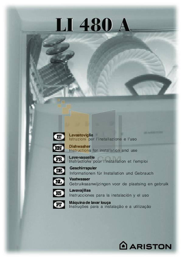 pdf for Ariston Dishwasher LL 65 S NA manual