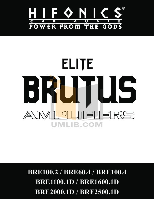 Hifonics Brutus bx1500d Manual