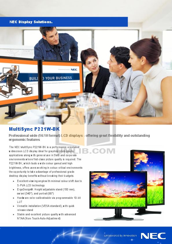pdf for Acer Monitor P221W manual