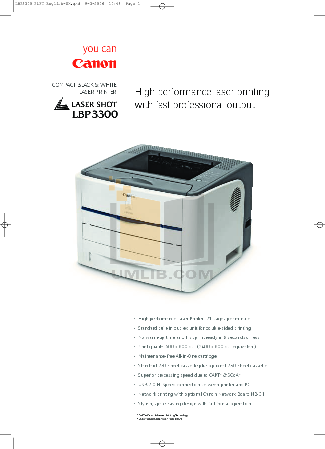 pdf for Canon Printer LBP-3300 manual