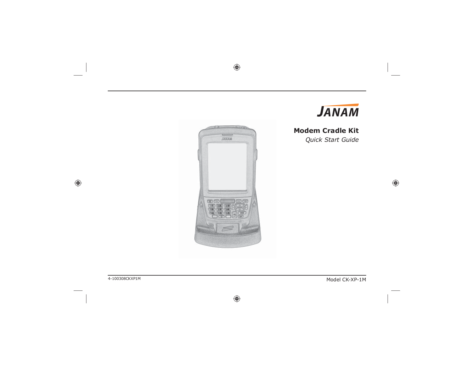 pdf for Janam Other CK-XP-1M Cradle Kit manual