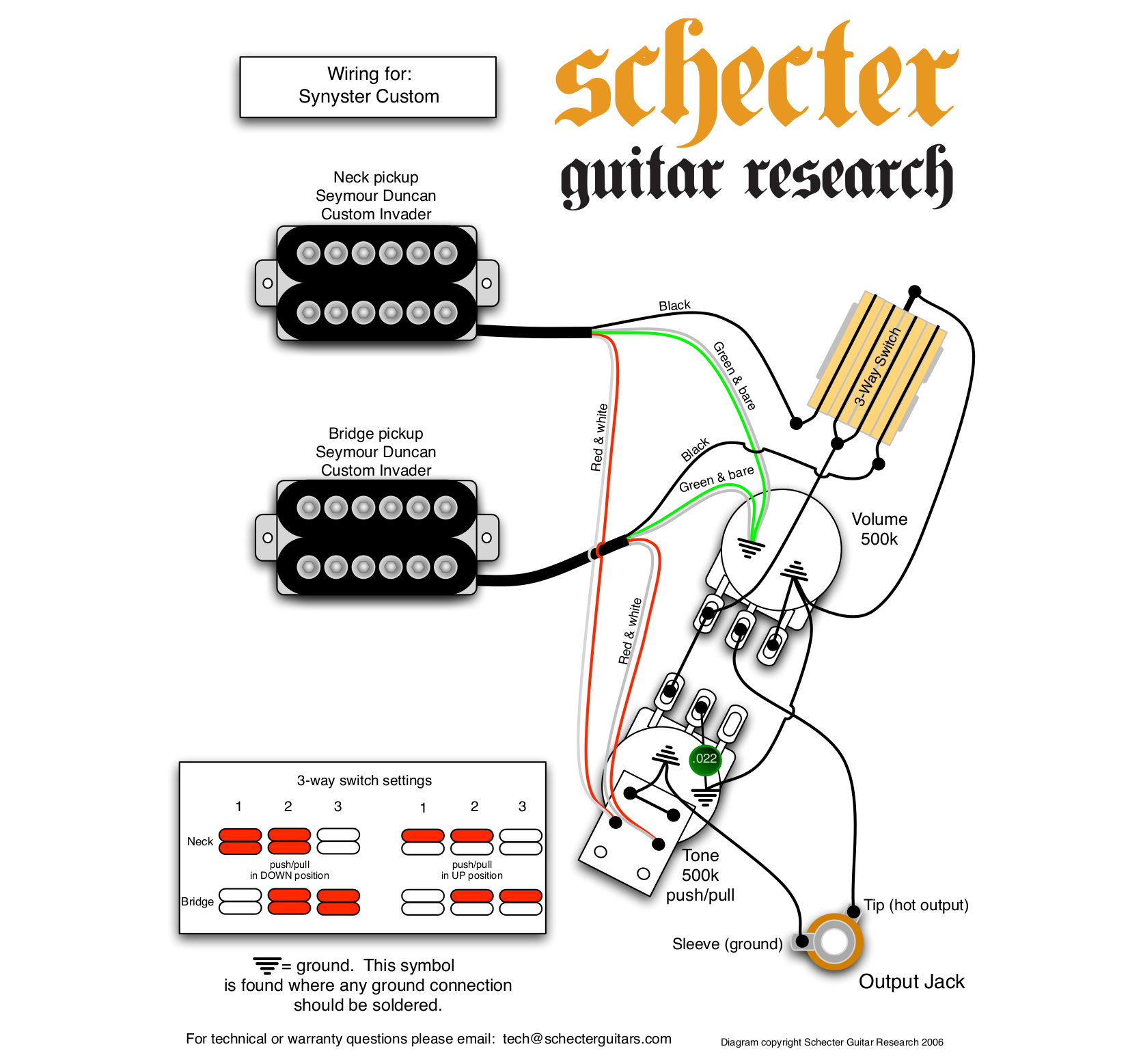 Schecter 006 Deluxe Wiring Diagram Similiar Diamond Series Pick Up Harness Toyota Diagram1982truck Pdf For Synyster Custom Guitar Manual