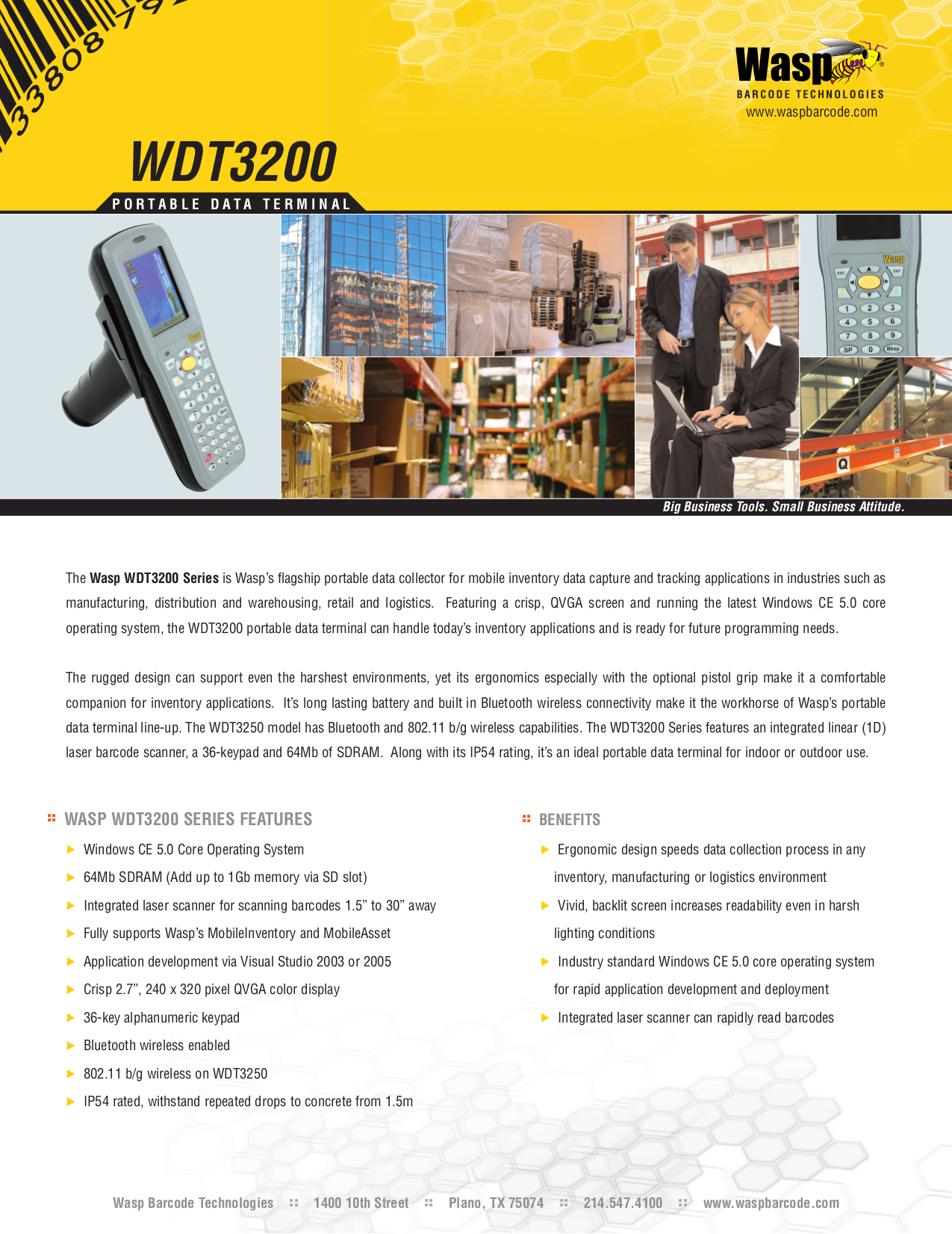 pdf for Wasp Other WDT3200 Data Terminal manual