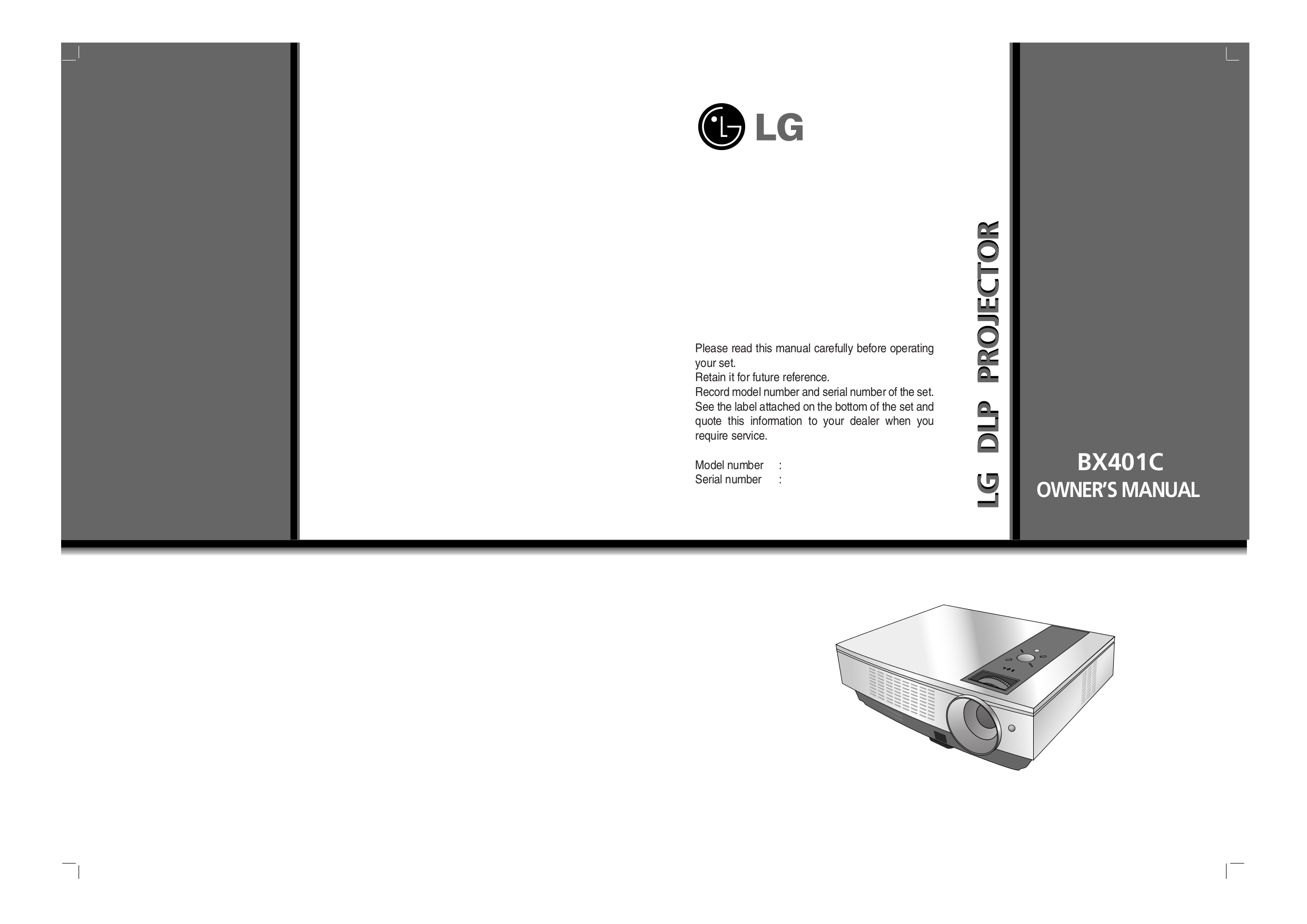 pdf for LG Projector BX401C manual