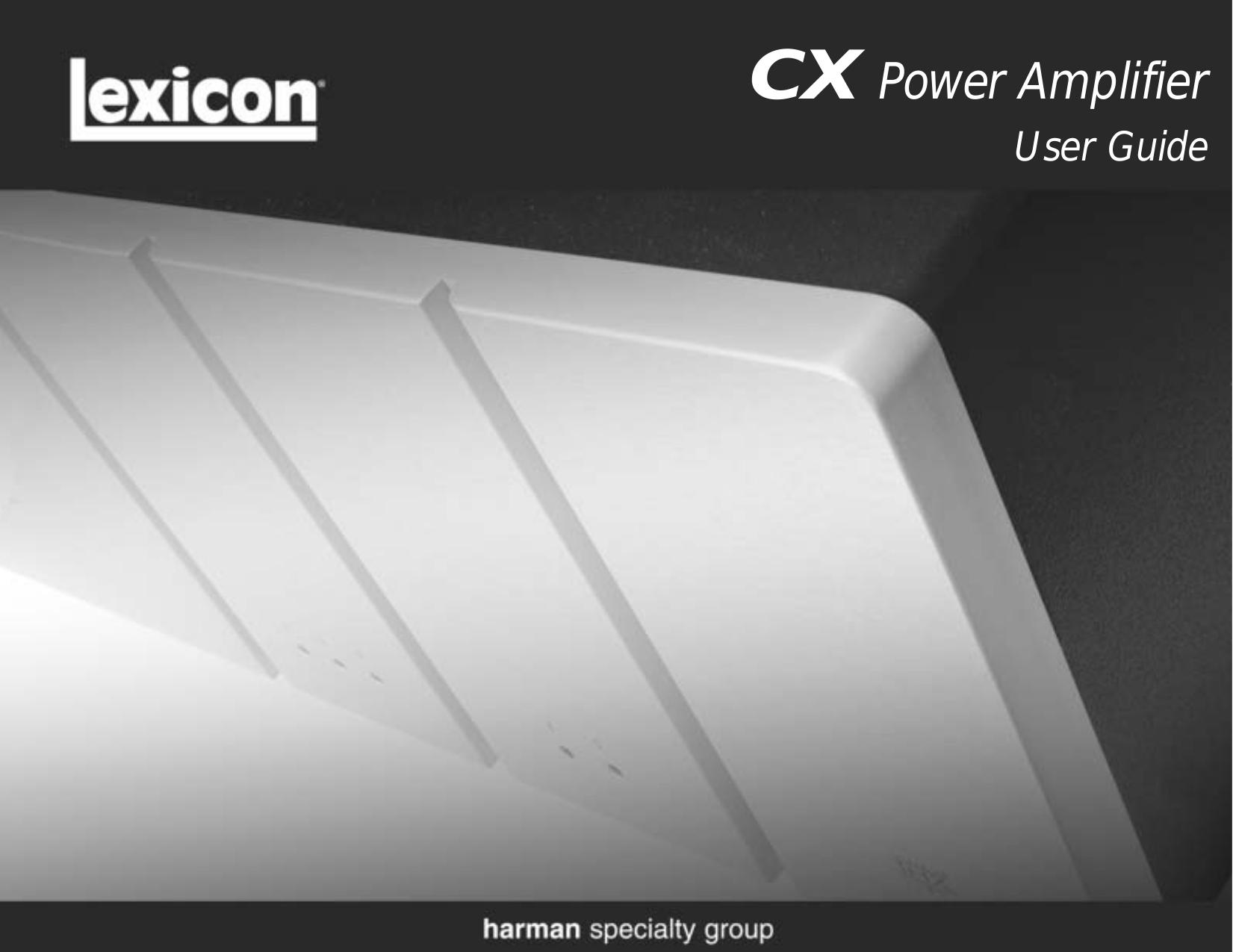 pdf for Lexicon Amp CX-5 manual