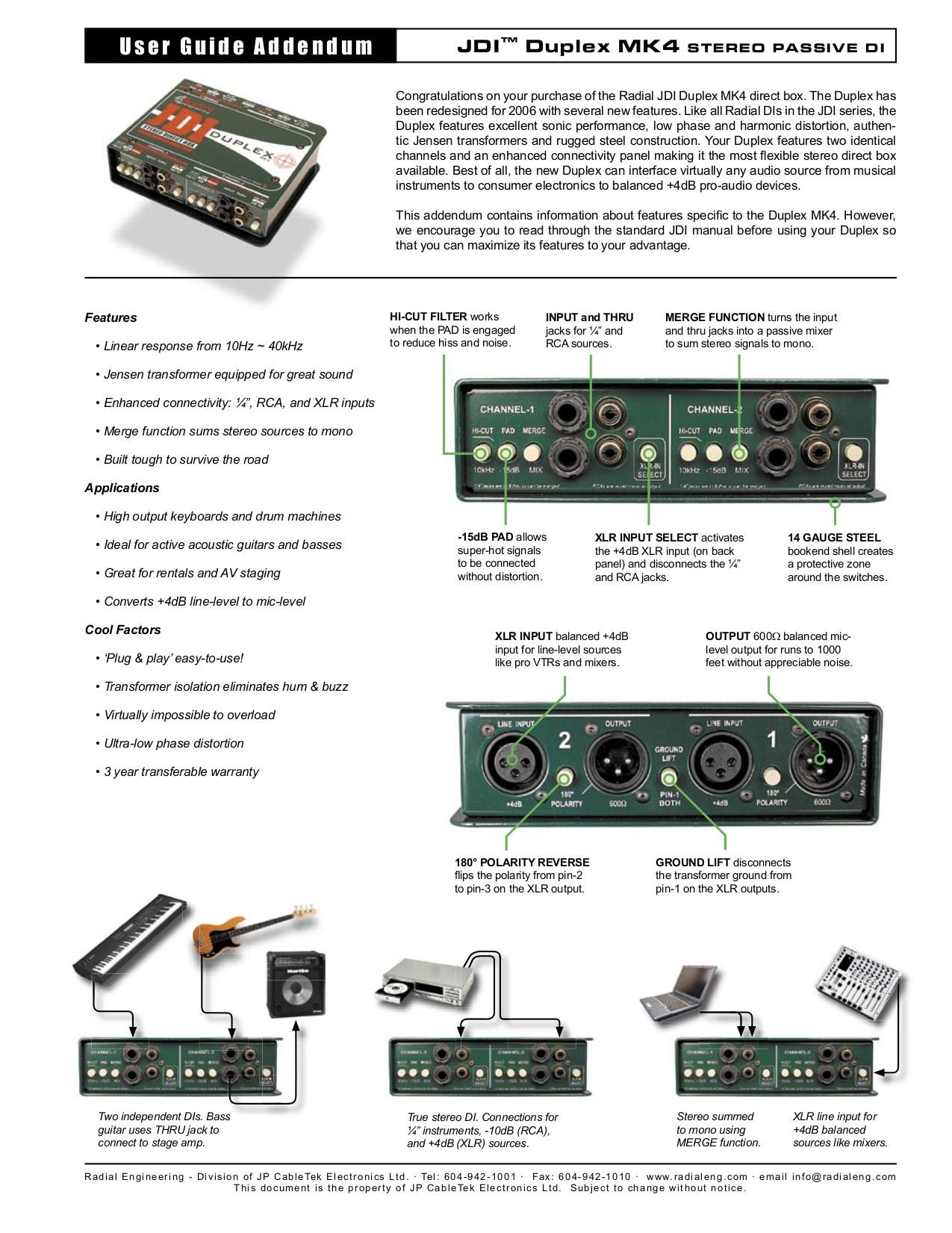 pdf for LTB Headphone Q-Bean-U manual