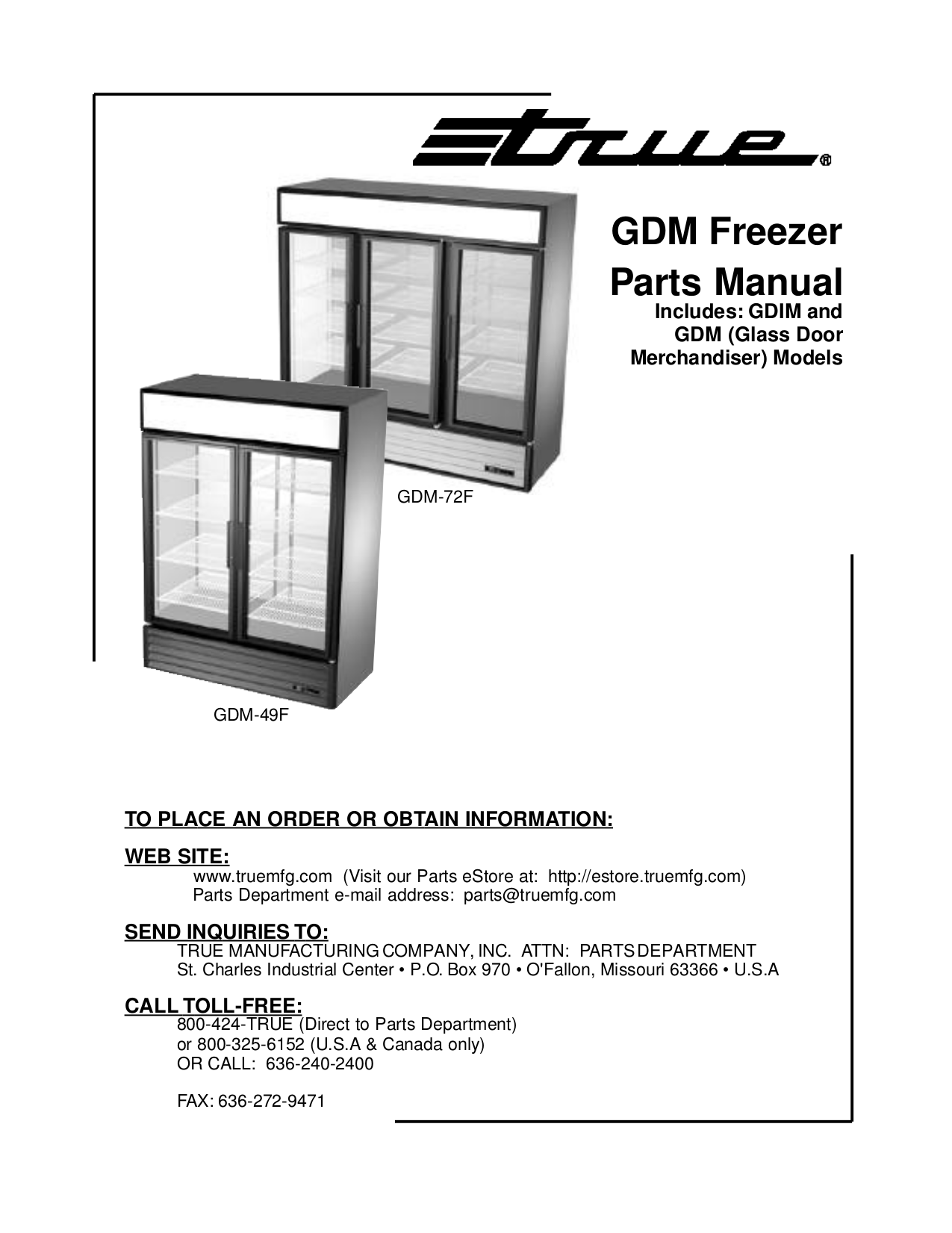 True Gdm 49f Wiring Diagram Download Free Pdf For 72f Freezer Manual