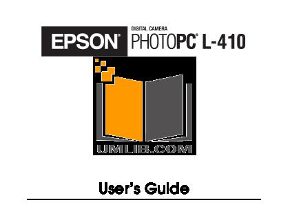 pdf for Epson Digital Camera PhotoPC L-410 manual