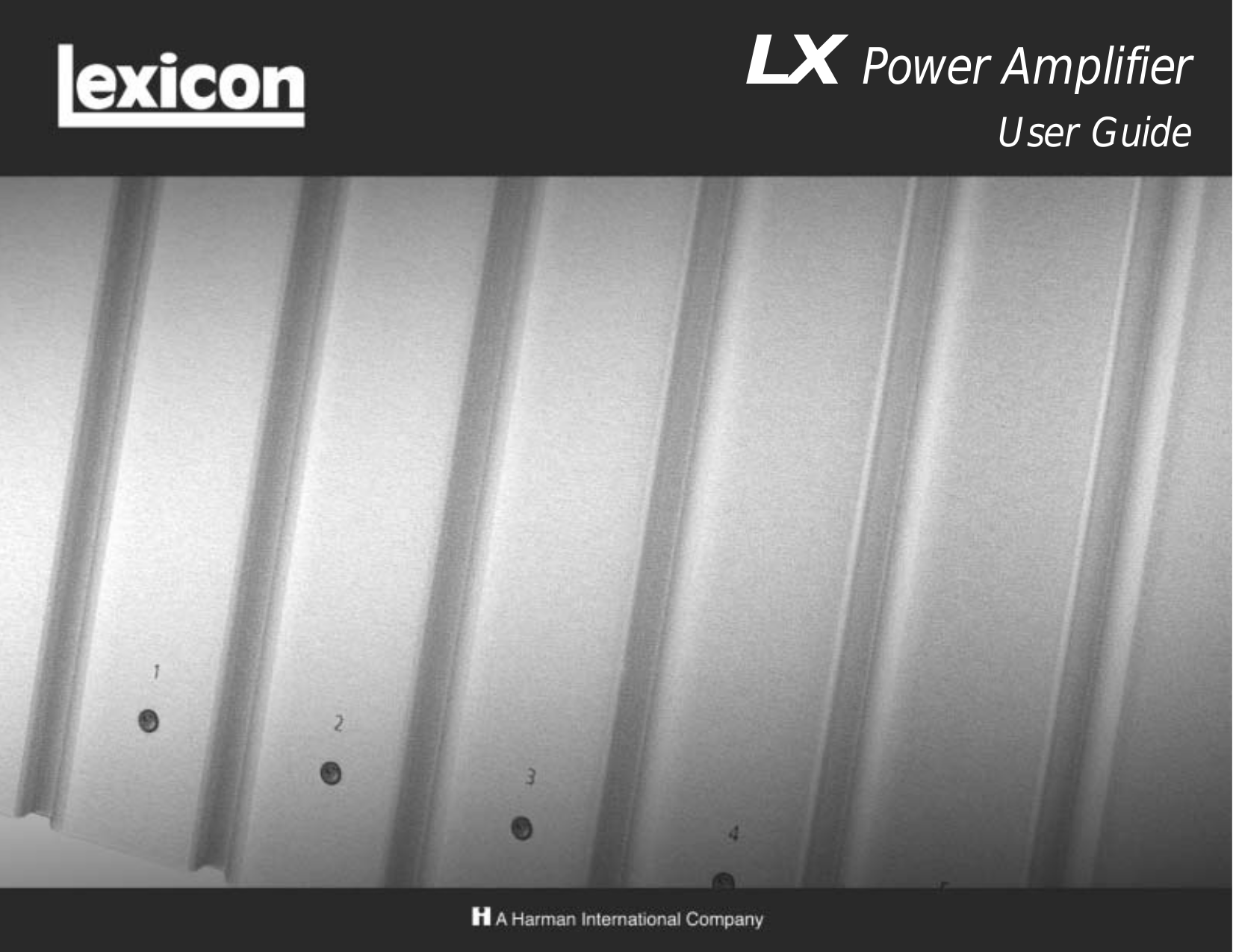 pdf for Lexicon Amp LX-5 manual
