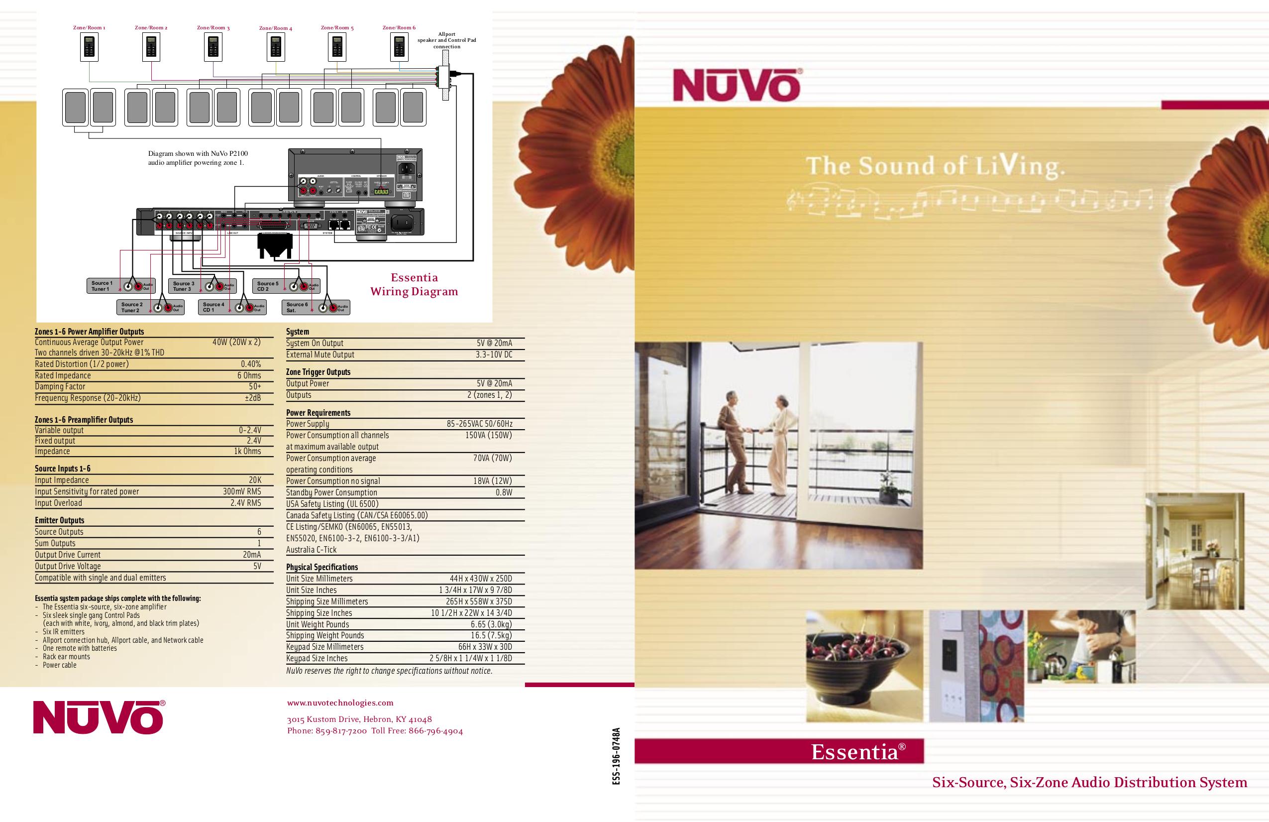 pdf for Nuvo Home Theater Essentia V.2 manual