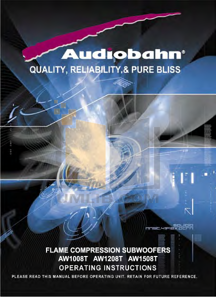 pdf for Audiobahn Subwoofer AW1008T manual