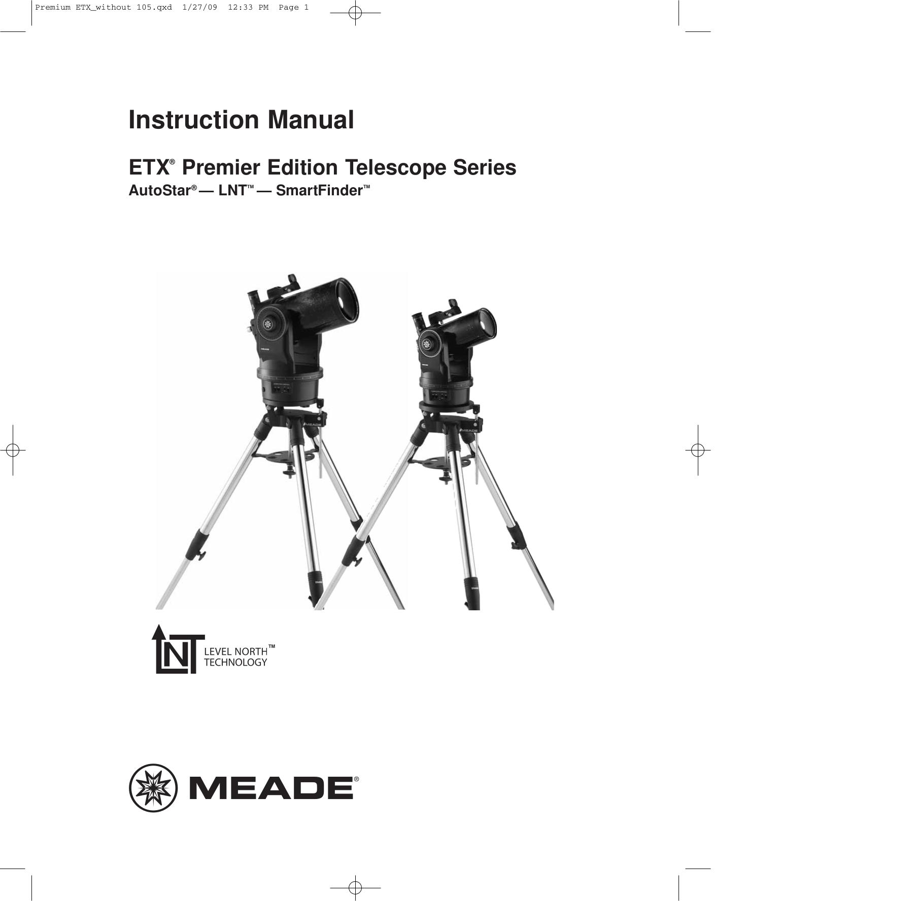 Meade etx 60 telescope manual