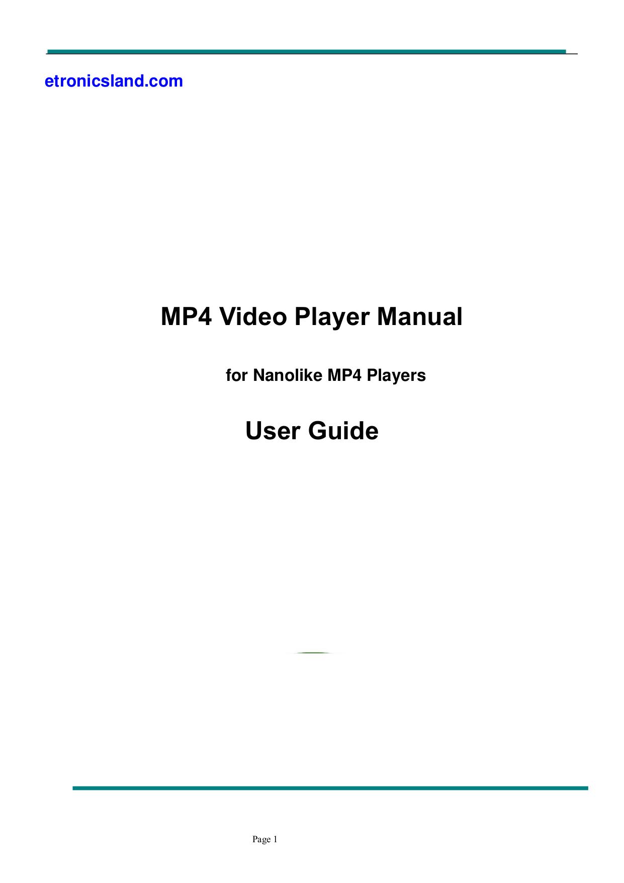 pdf for Lasonic MP3 Player MP-5K manual