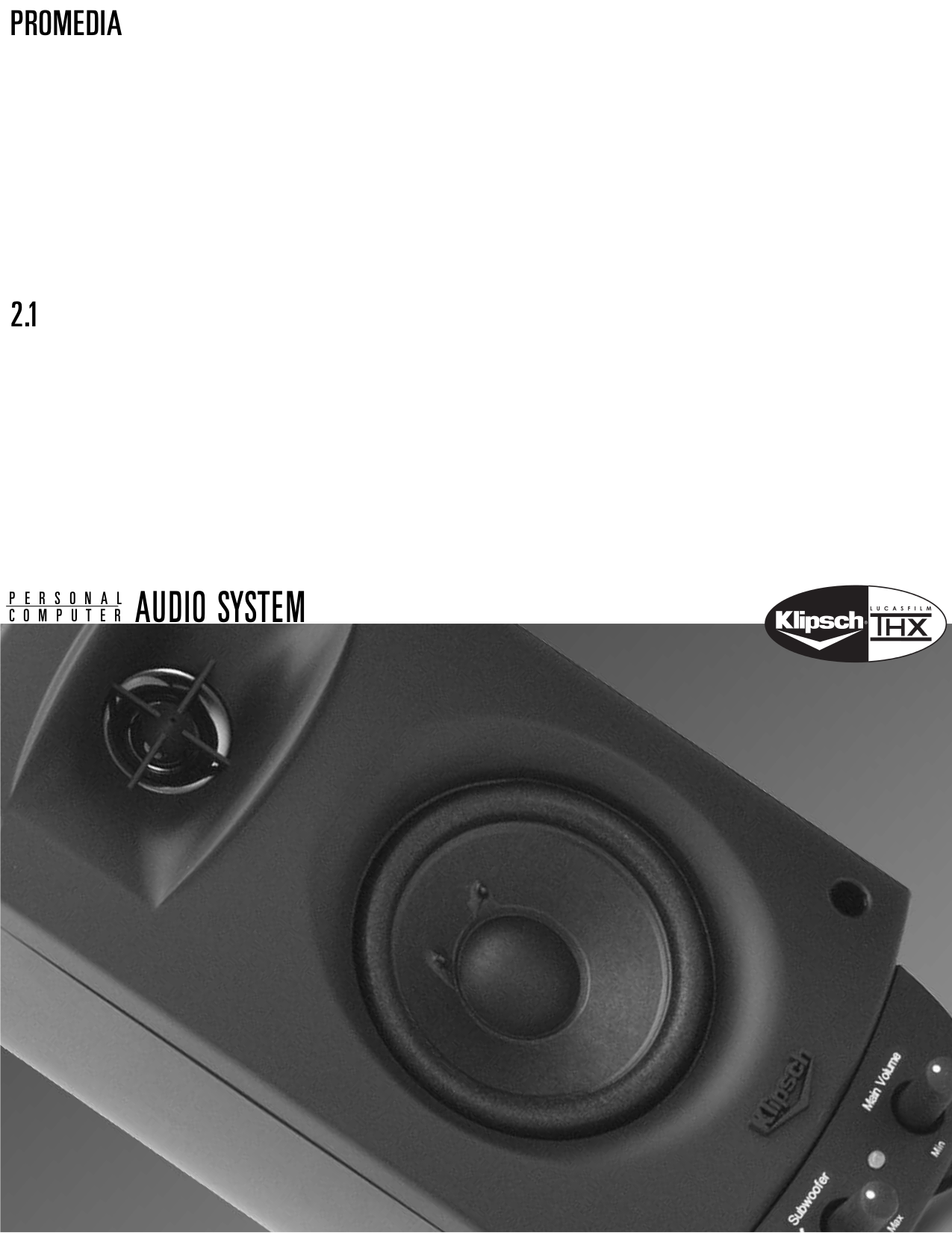 Pdf Manual For Klipsch Speaker Promedia 21 2 1 Wiring Diagram Page Preview