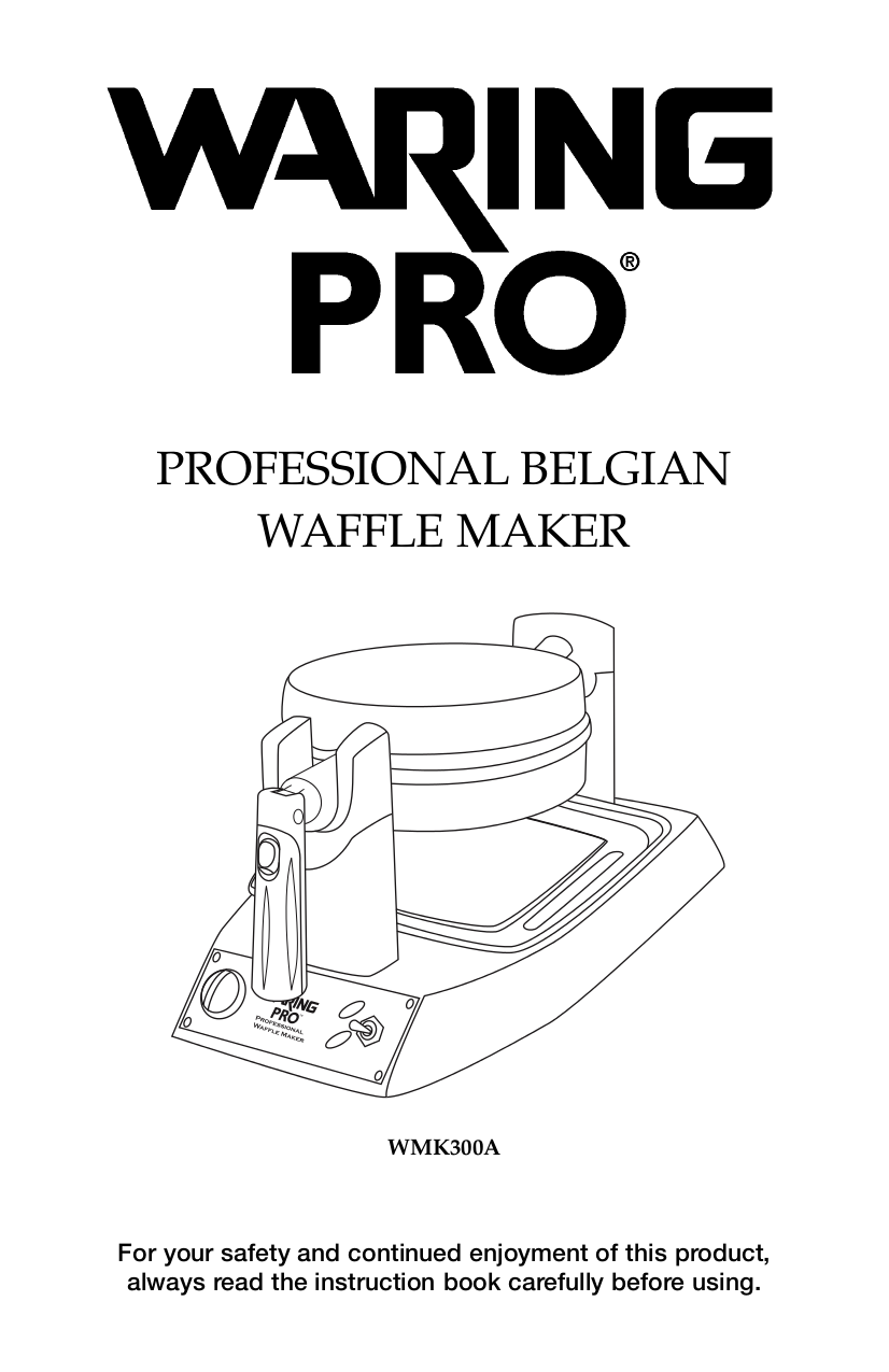 pdf for Waring Other WMK300A Waffle Makers manual