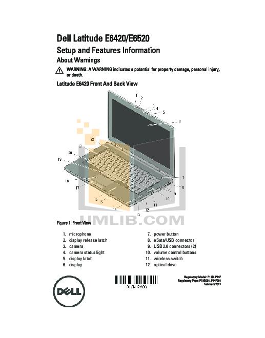 Service Manual Dell Latitude e6420 a08 bios versions