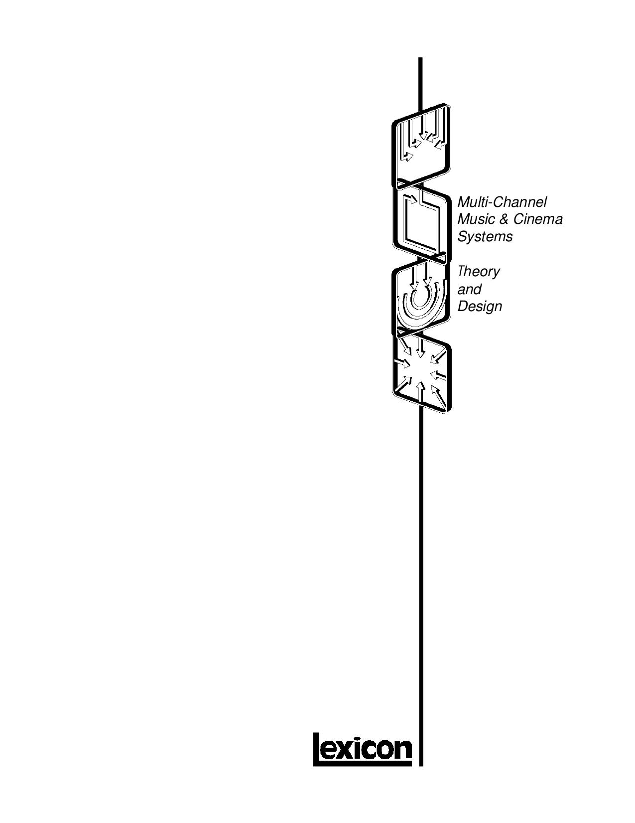 pdf for Lexicon Receiver MC-1 manual
