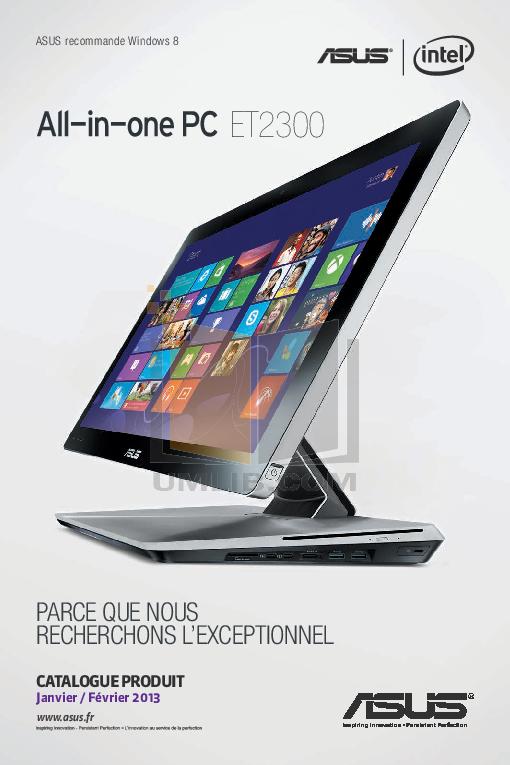 pdf for Asus Desktop Eee Top ET2010 manual