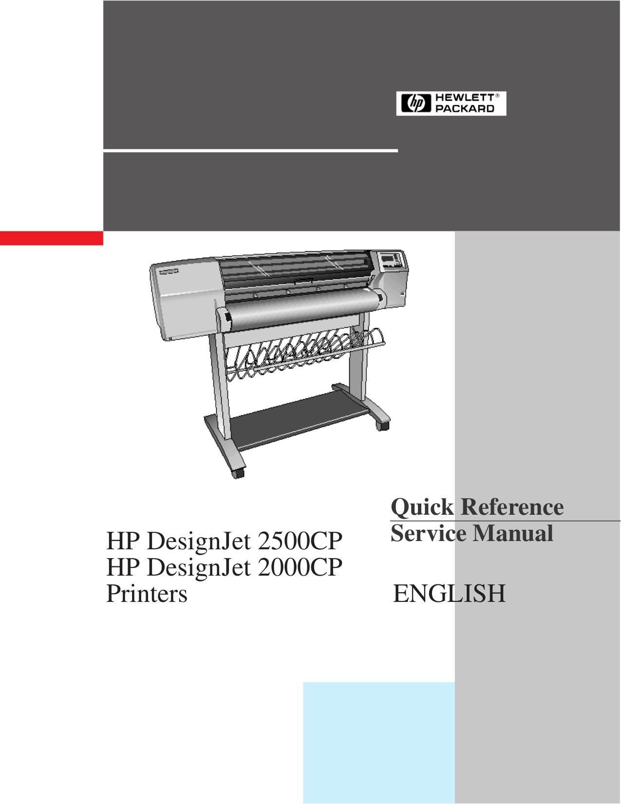 Hp Designjet 2500cp manual