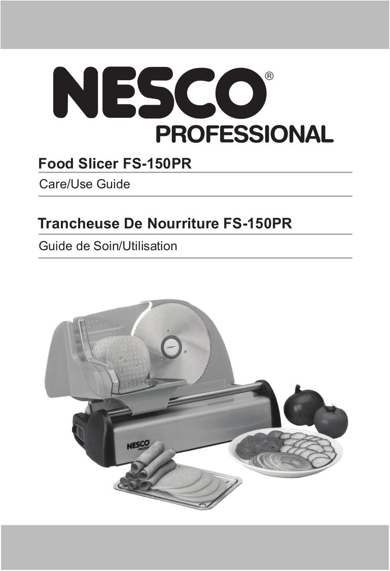 pdf for Waring Other FS150 Food Slicers manual