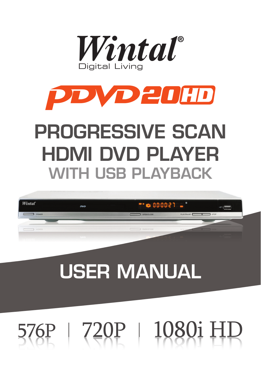 pdf for Wintal DVD Players PDVD20HD manual