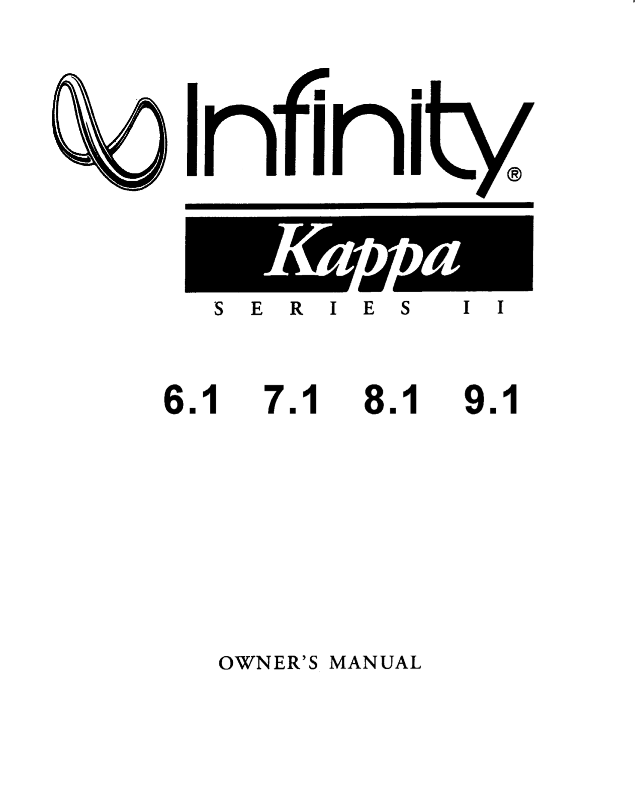 pdf for Infinity Car Amplifier Kappa Series KAPPA FIVE manual