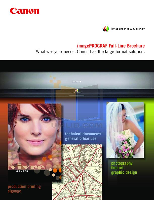 pdf for Canon Printer imagePROGRAF iPF8000S manual