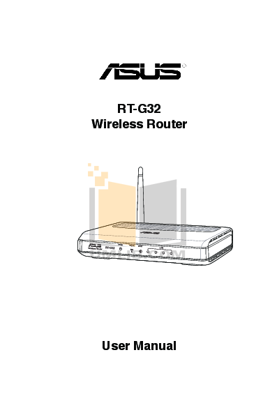 pdf for Asus Wireless Router RT-G32 manual