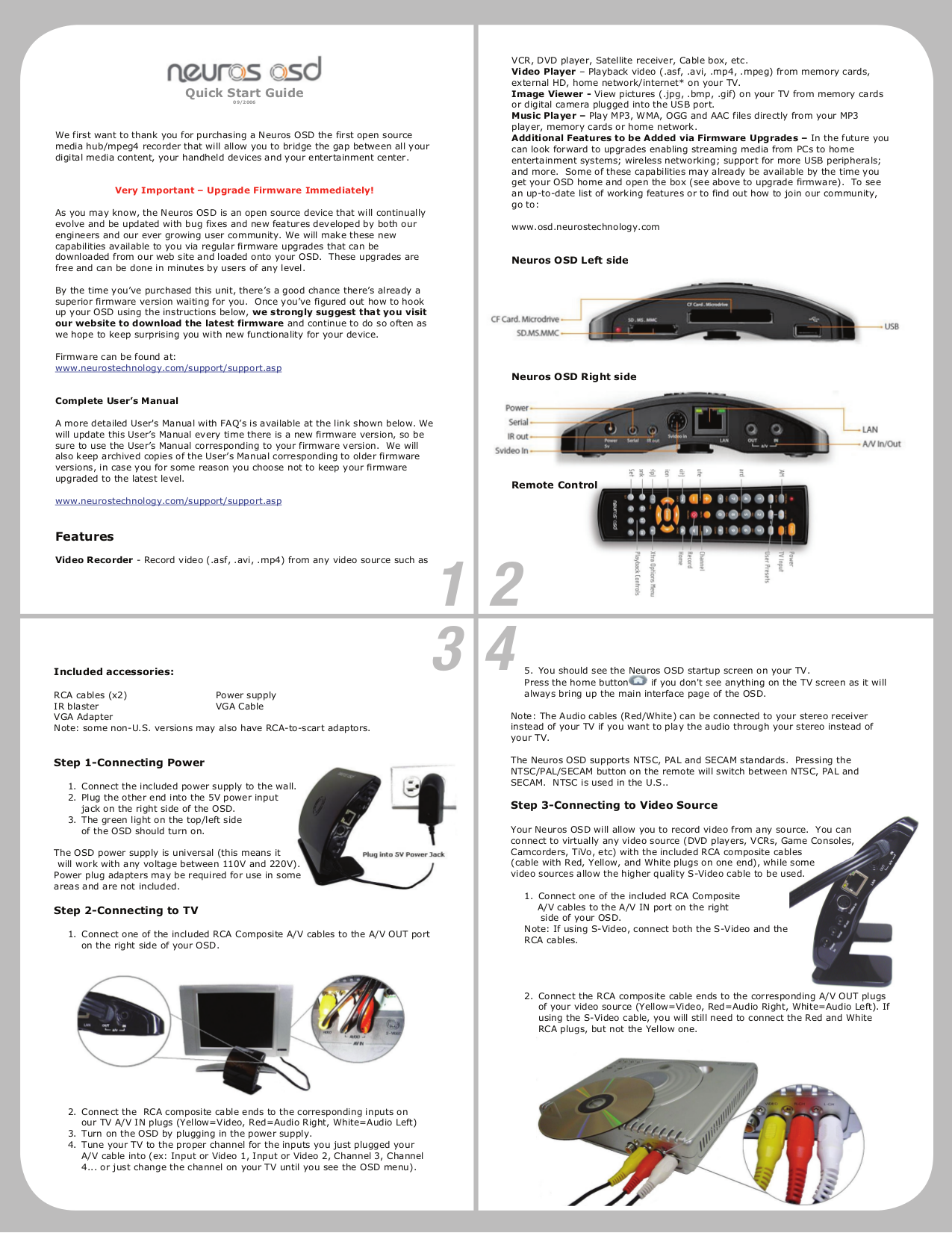 pdf for Neuros DVR MPEG4 Recorder 1 manual