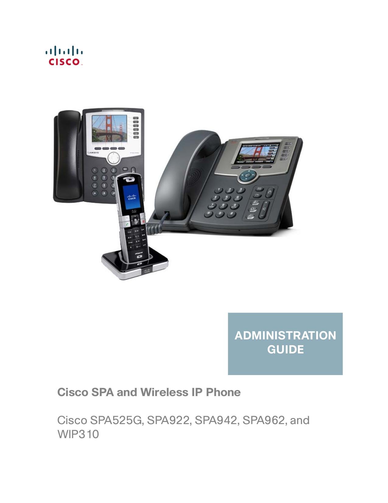 pdf for Linksys Telephone SPA962 manual