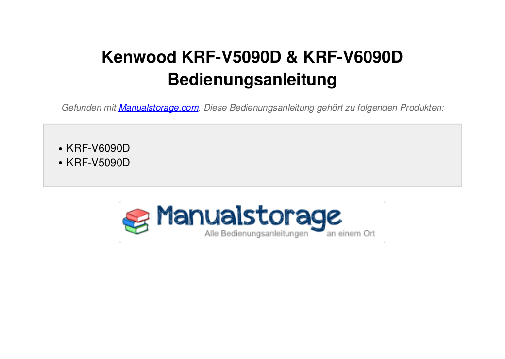 Kenwood Krf-v5090d Manual Pdf
