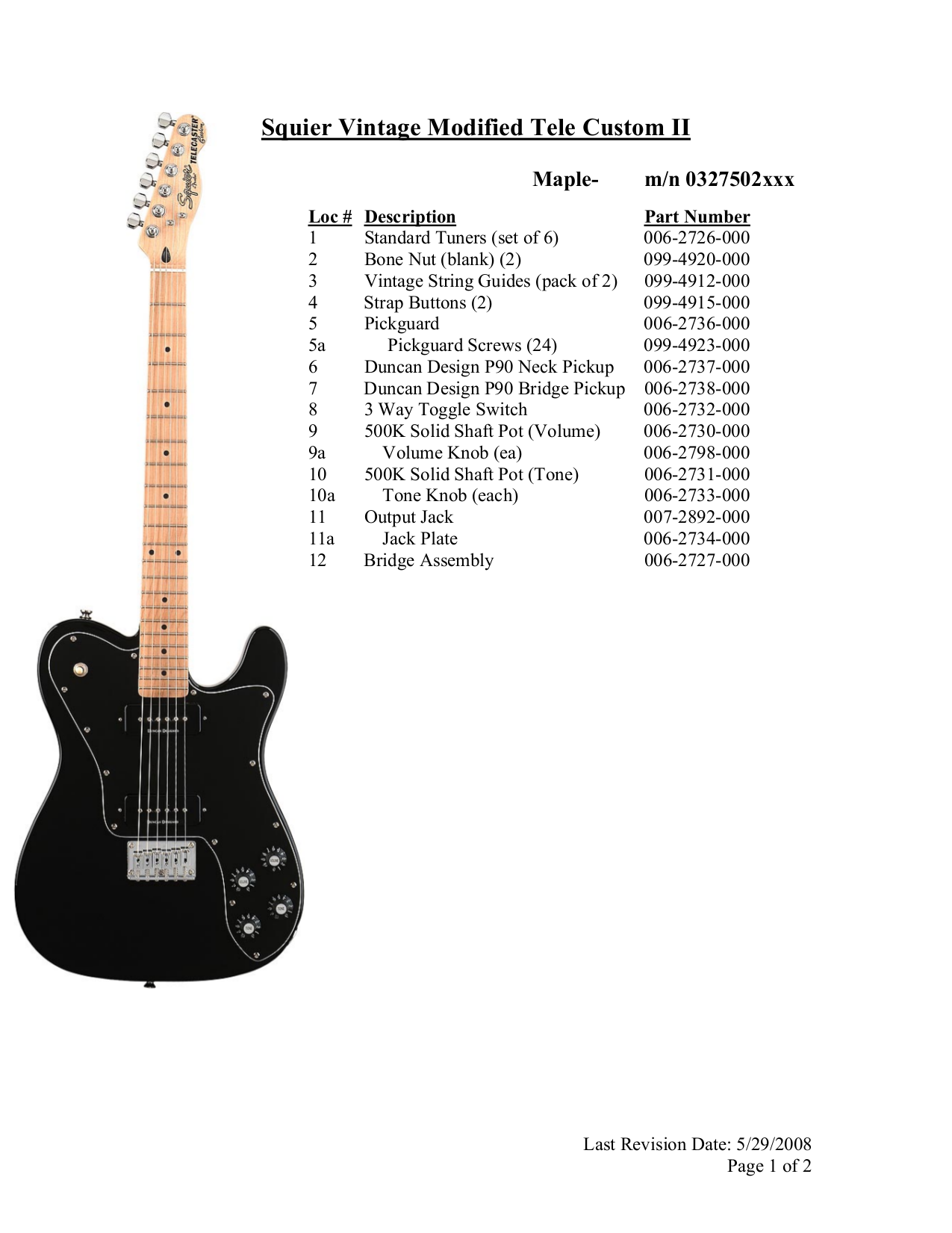 Squier Telecaster Custom Ii Wiring Diagram Solutions Fender Free Pdf For Vintage Modified Tele Guitar New 72 Deluxe Prepossessing
