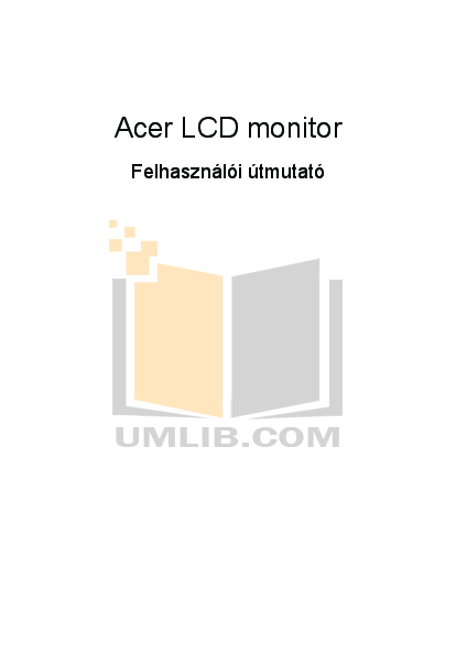 pdf for Acer Monitor B193W manual
