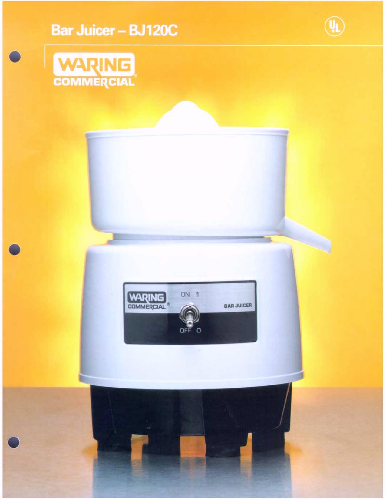 pdf for Waring Other BJ120C Juicers manual