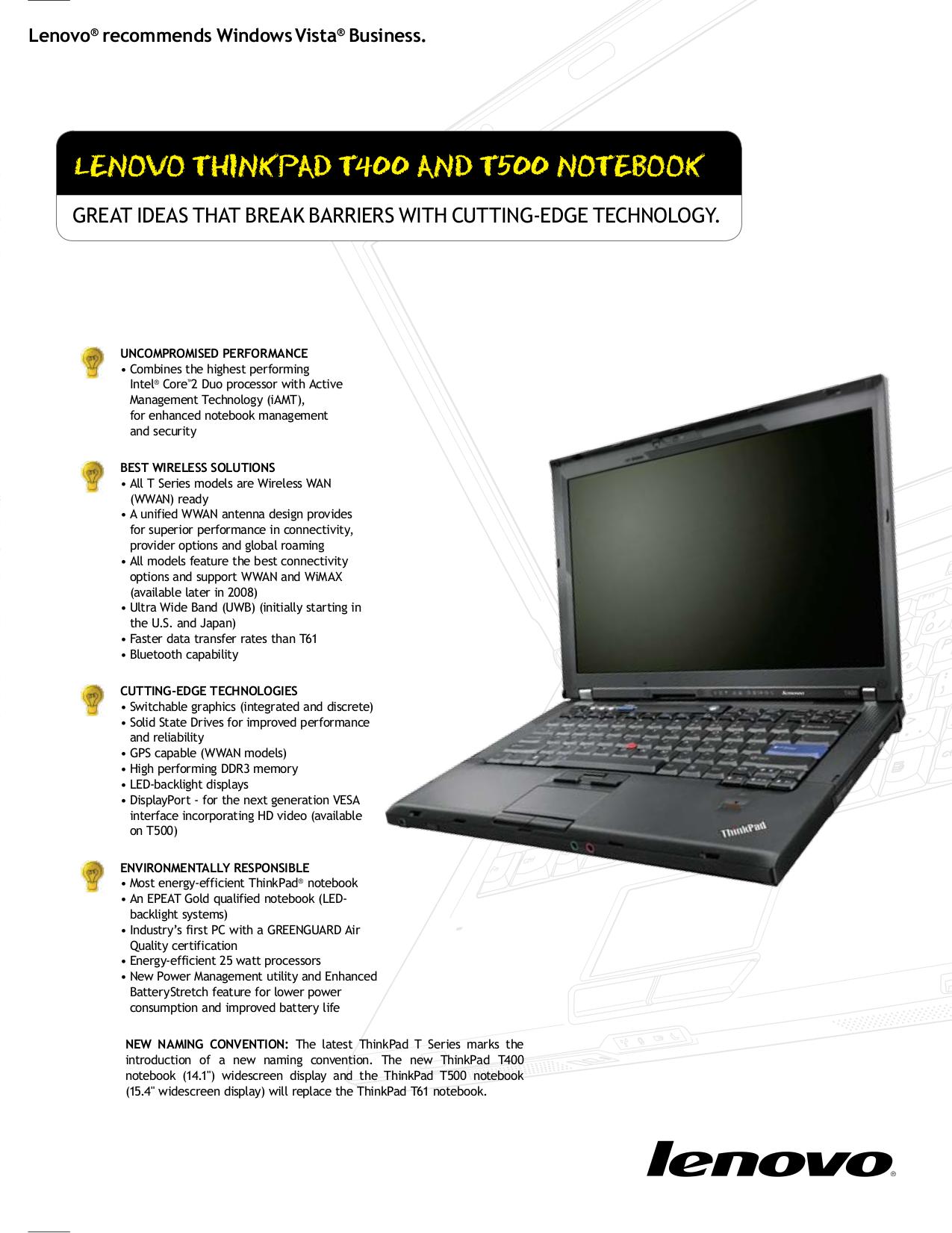 Ibm Thinkpad T61 user Manual