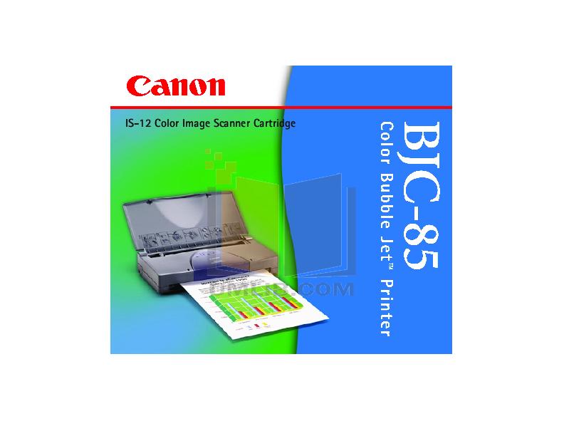 pdf for Canon Printer BJC-85 manual