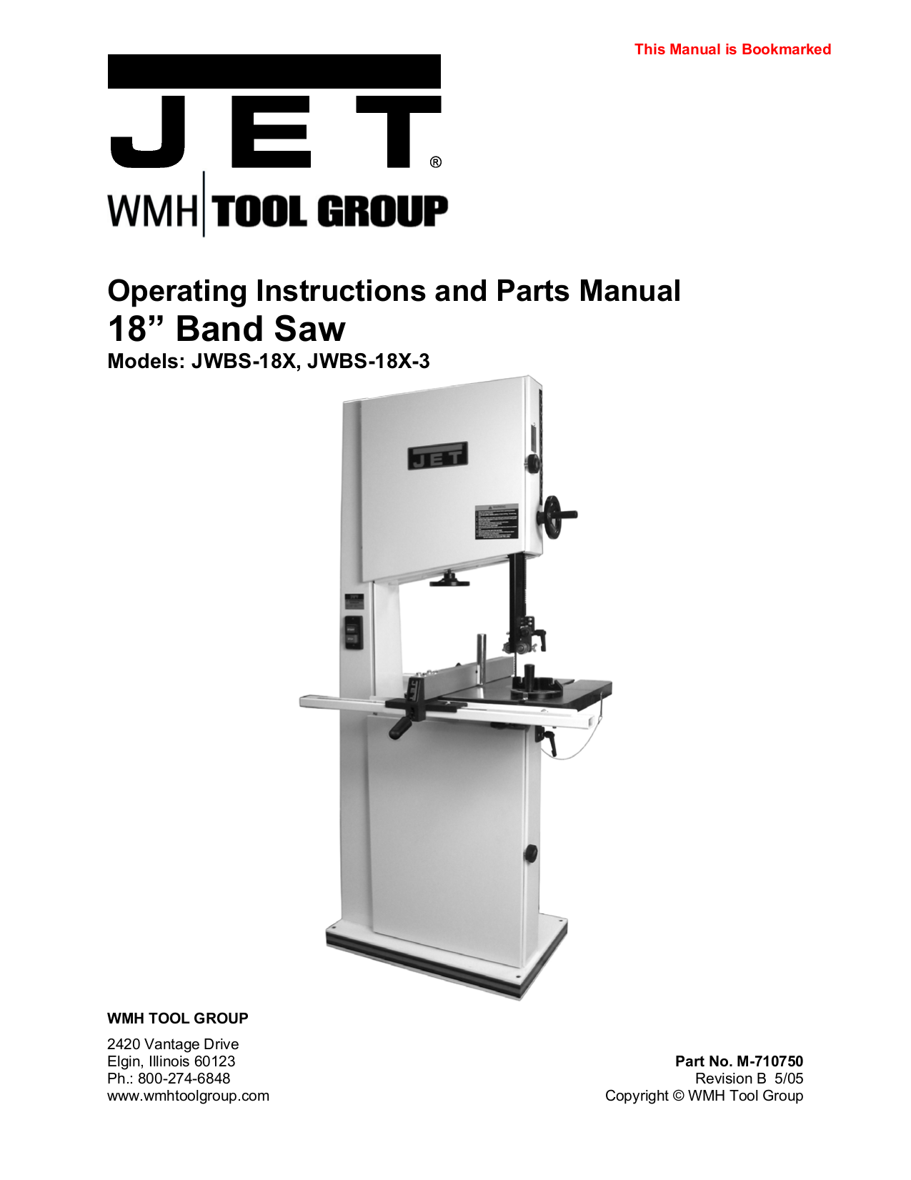Craftsman Band Saw Manual Pdf Jet Wiring Diagram Download Free For Jwbs 18x Bandsaw Other Rh Umlib Com Horizontal