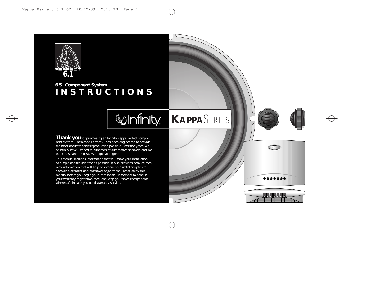 pdf for Infinity Car Amplifier Kappa Series KAPPA ONE manual