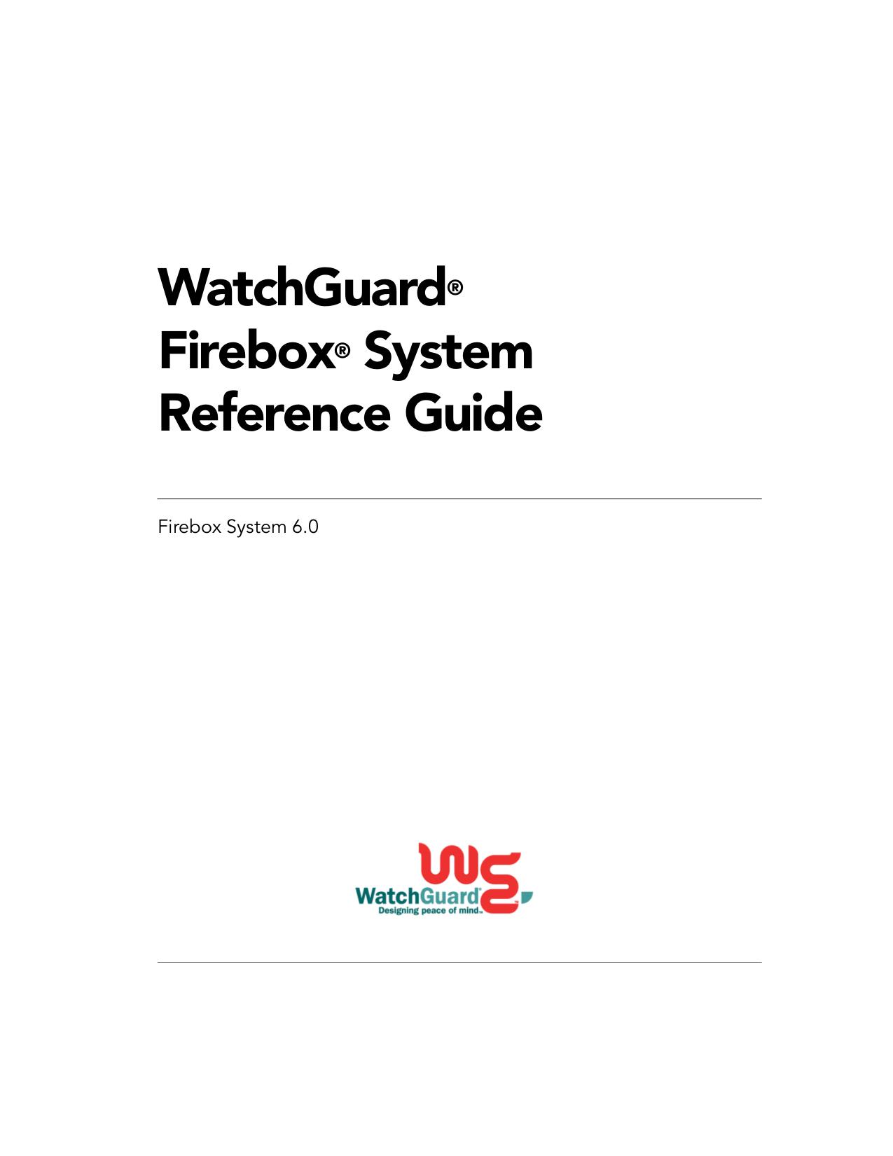 pdf for Watchguard Other Firebox V100 Firewall manual