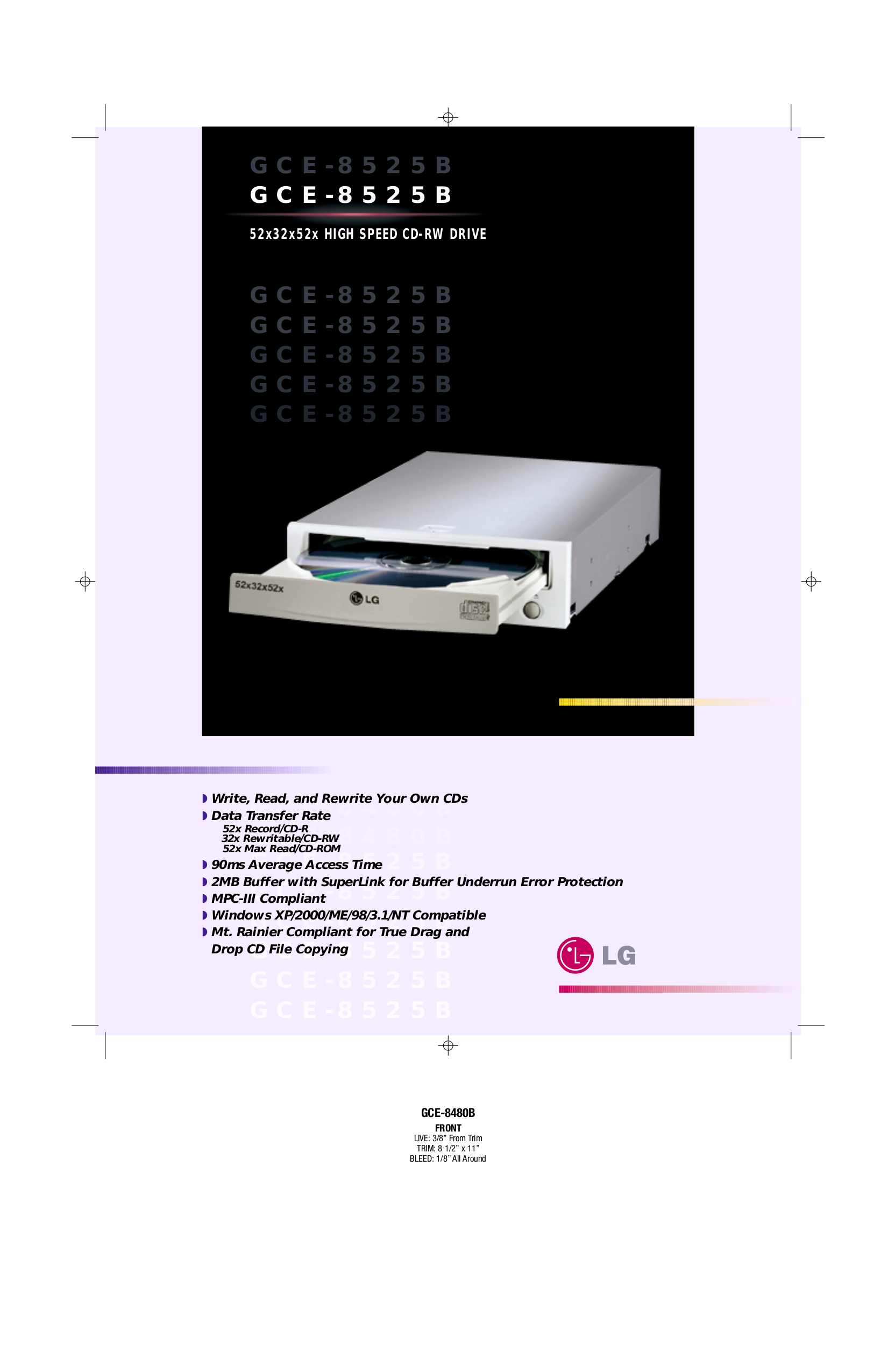 pdf for LG Other GCE-8525B CDR Drives manual