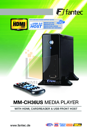 pdf for Fantec Other MM-CH36US Media Players manual