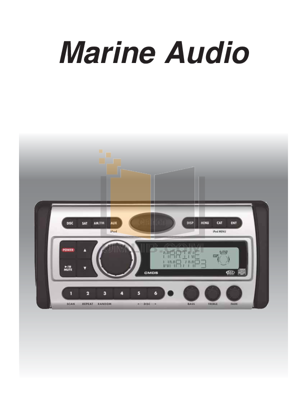 pdf for Clarion Other CMRC1-BSS Remote Control manual