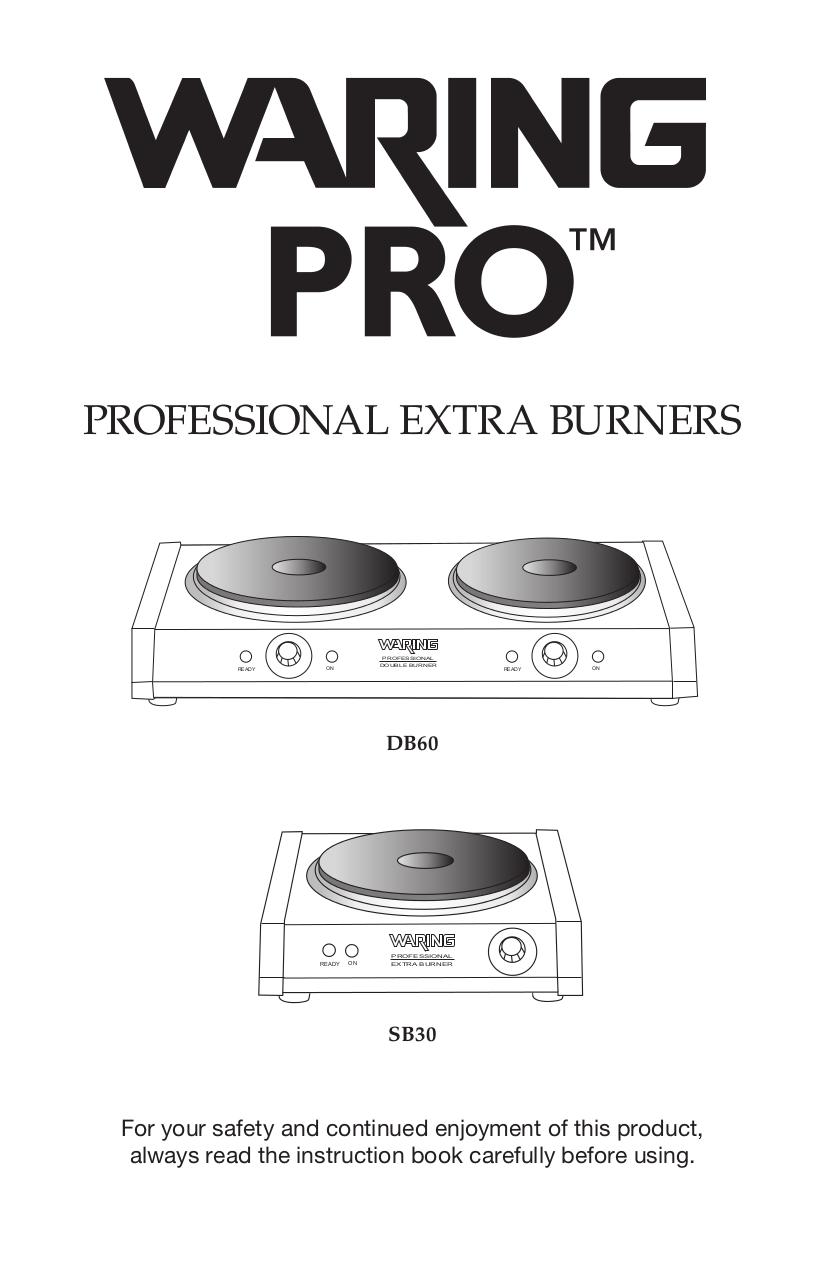 pdf for Waring Range DB60 manual
