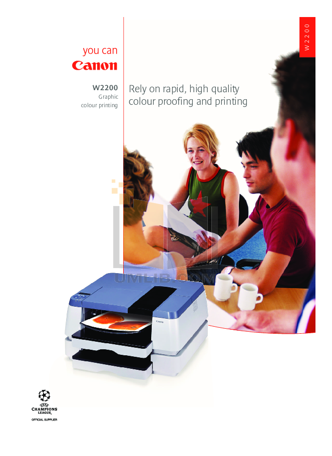 pdf for Canon Printer W2200 manual