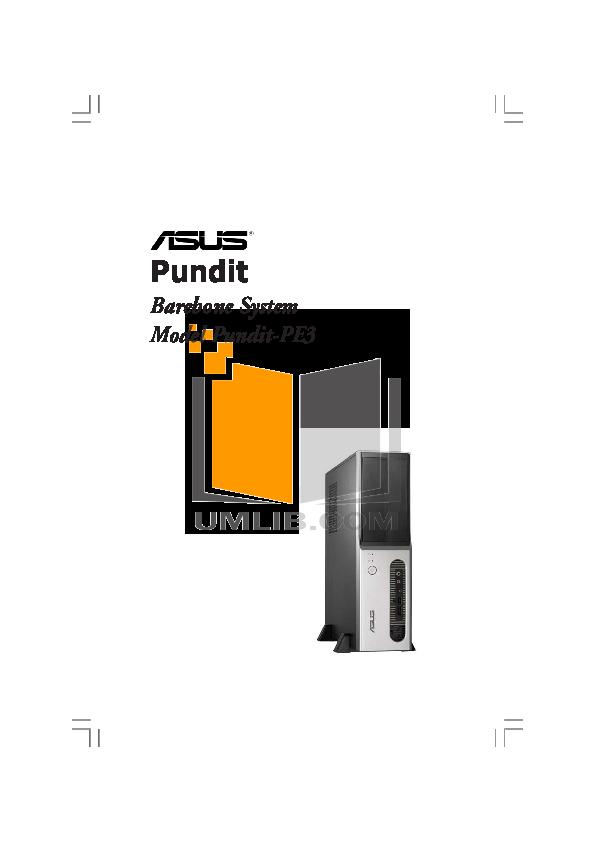 pdf for Asus Desktop V2-PE3 manual