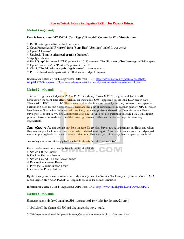 pdf for Canon Printer PIXMA iP4600 manual