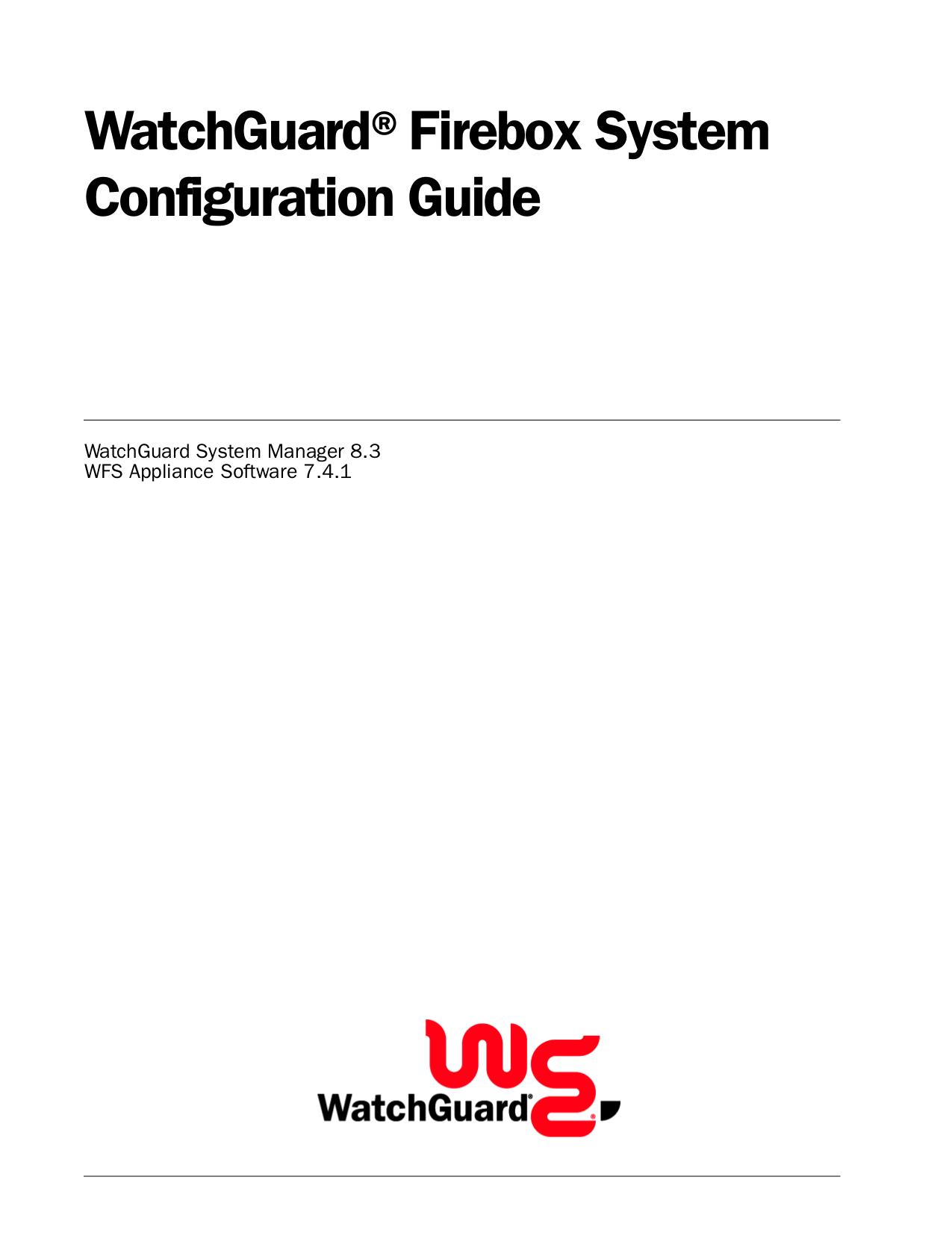 pdf for Watchguard Wireless Router Firebox X5-W manual